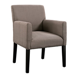 Modway - Chloe Armchair EEI-1045 Gray - The ubitquitous design of the Chloe armchair, provides the perfect accent piece for a variety of settings. Chloe is an ideal accessory for those who love to shift their belongings and change up the room. The comfortable fabric armchair with four dark wooden legs can be utilized as in casual dining, office waiting room, or a subtle highlight in the living room. Chloe's engagingly neutral style will prove worthy again and again.