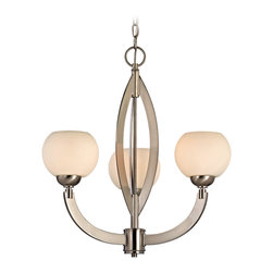 Dolan Designs - Dolan Designs 2967-09 Odyssey Satin Nickel 3 Light Chandelier - Dolan Designs 2967-09 Odyssey Satin Nickel 3 Light Chandelier