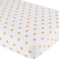Marine Queen Crib Fitted Sheet, Gold - The only thing I don't like about these gold dot sheets is that they don't come in king size.