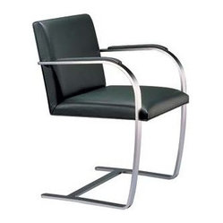 Flat Bar Brno Chair with Armpads
