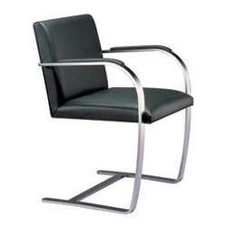 Knoll - Flat Bar Brno Chair with Armpads - Product Information