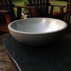 Blue Concrete Bowl - The minimalist concrete bowl from Bungalow Street - Subtle Blue Tres Grande!