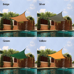 None - Small Square Sail Sun Shade - Perfect for covering patios, courtyards, playgrounds, or parking lots, this sun shade is a great way to add a touch of comfort anywhere in your yard. This shade blocks up to 90-percent of UV rays.