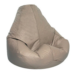 Elite Products - Lifestyle 41 in. Extra Large Bean Bag in Cobb - Unstructured bean bags are loved for their form-fitting fill and great colors. Cobblestone is a neutral choice that has adult appeal for living spaces and family rooms. Extra large size is perfect for plumping and poofing into the most relaxing shape. * Long lasting and durable. Pear shape body for add comfort. Double stitched with double overlap folded seam. Double zippered bottom for added security. Childproof safety lock zippers (pulls have been removed). Can easily be refilled by an adult. Easy to clean. Recommended seating age: 10 years + and adults. Warranty: One year limited. Made from PVC vinyl, polystyrene bead. Made in USA. No assembly required. 41 in. L x 39 in. W x 33 in. H (11 lbs.)Extra large bean bag chairs are just the right size for dorms, but they're in demand for homes and apartments, too. Great for any entertainment setting or for studying. Surround yourself with oversized luxurious comfort.