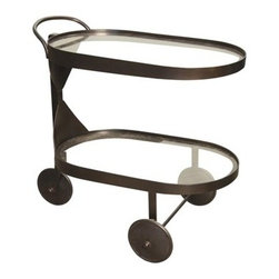 NOIR - noir Furniture - Castra Serving Cart in Metal - GTAB609MT - Features: