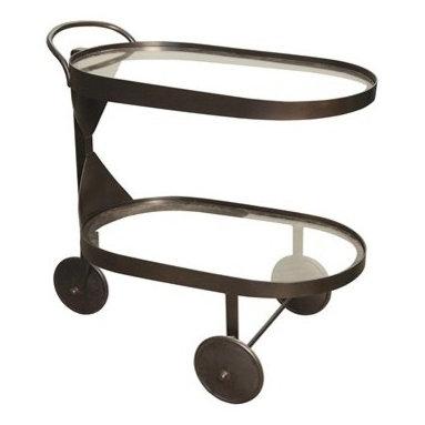 NOIR - noir Furniture - Castra Serving Cart in Metal - GTAB609MT - Features: