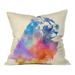 Robert Farkas Sunny Leo Outdoor Throw Pillow - Do you hear that noise? It's your outdoor area begging for a facelift and what better way to turn up the chic than with our outdoor throw pillow collection? Made from water and mildew proof woven polyester, our indoor/outdoor throw pillow is the perfect way to add some vibrance and character to your boring outdoor furniture while giving the rain a run for its money.