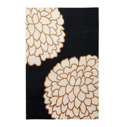 Surya - Contemporary Artist Studio 8'x11' Rectangle Black-Gold  Area Rug - The Artist Studio area rug Collection offers an affordable assortment of Contemporary stylings. Artist Studio features a blend of natural Ivory-Sky  color. Hand Tufted of 100% New Zealand Wool the Artist Studio Collection is an intriguing compliment to any decor.