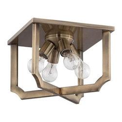 Jeremiah Lighting - Jeremiah Lighting 37384 Lisbon 4 Light Flush Mount Ceiling Fixture - Features: