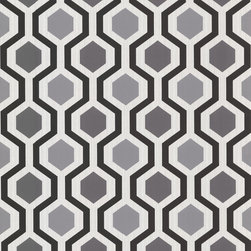 Brewster - 347-20133 Marina Modern Geometric Black And White Trellis Wallpaper - A savvy modern geometric wallcovering in a valiant palette of blacks, greys and whites, adds fashionable dimension to walls.