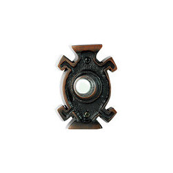 NB1505RB NuTone Oil-Rubbed Bronze Flush Mount Pushbutton - The highly unique design of this pushbutton will greet all visitors to your door quite warmly! What an interesting find!