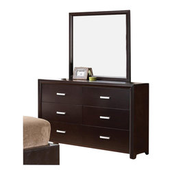Coaster - Coaster Andreas Dresser and Mirror Set in Cappuccino Brown - Coaster - Dressers - 202473+4PKG