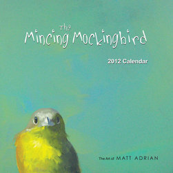 Mincing Mockingbird 2012 Calendar by Mincing Mockingbird - Matt Adrian is the artist behind the popular shop The Mincing Mockingbird, and his new calendar for 2012 is filled with beautifully reproduced prints of his original bird paintings — the colors he uses are just fantastic.