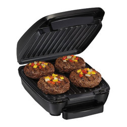 HAMILTON BEACH BRANDS, INC. - Hamilton Beach Indoor Grill With Removable Grids,Indoor Grill,Each - Hamilton Beach Indoor Grill features removable nonstick cooking grids that go right in the dishwasher for easy cleanup. It cooks most meals in 10 minutes or less.