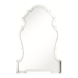 Venetian Mirrored Arche - I love how this mirror is feminine yet sill has modern flair with its almost-frameless design.