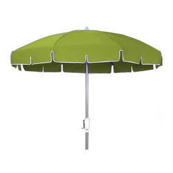 Fifthroom - 7.5' Octagon Commercial Sunbrella Umbrella w/Aluminum Pole, Crank Lift, and No T - Stylish and durable, our 7.5' Octagon Commercial Sunbrella Umbrella is perfect for entertaining your patrons by the pool or on the patio. Engineered of genuine Sunbrella material, this umbrella is durable and incredibly easy to maintain. It provides the ultimate in stain and mildew resistance, and is easy to clean and maintain. Available in 19 fun and flirty colors such as Castanet Beach and Celadon, this umbrella will not only provide protection from the elements, but also a touch of class to any outdoor area.