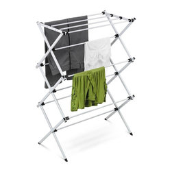 Honey Can Do - Deluxe Metal Drying Rack; Ready To Assemble - Heavy-duty steel frame- sturdy and rustproof. 23 feet of drying space- saves energy. Fold flat- space saving storage. 29.41 in. x 14.37 in. x 41.93 in.