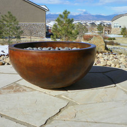 Concrete fire pits and fireplace surrounds -