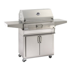 """Fire Magic - Legacy 24SC01C61 Stand Alone Charcoal Grill with Smoker Oven/Hood - Legacy Stand Alone Charcoal Grill with Smoker Oven/Hood (30"""" x 18"""", Size Code RCH)Charcoal Legacy Stand Alone Series Features:All 304 Stainless Steel construction"""