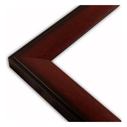 The Frame Guys - Slope Mahogany Picture Frame-Solid Wood, 10x10 - *Slope Mahogany Picture Frame-Solid Wood, 10x10
