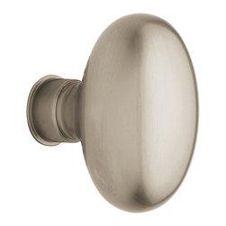 Baldwin Hardware - Baldwin Estate 5025 Egg-Shaped  Door Knob Set - Privacy  - Satin Nickel - 5025 Product Details: