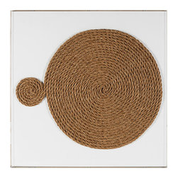 Kathy Kuo Home - Modern Abstract Coastal Beach Unwind Natural Fiber Wall Art - Brown - Worried about coming undone? Don't. Unwinding is a great thing! This custom-made-to-order framed art is just the thing your home desires to remind you that having a space to come undone is exactly what you need.