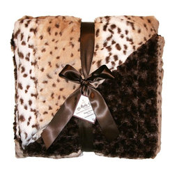 Snow Leopard Cream Blankets - This faux fur throw blanket is supremely soft and cozy! With one side showcasing a subtle, cream-colored leopard pattern and the other a rich chocolate hue, this super soft throw can showcase both the sophisticated and the fun side of your design style. Perfect for draping across the sofa, or at the edge of the bed, this throw will make you feel like royalty as you rest!