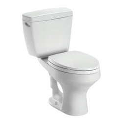 TOTO - TOTO Rowan Close Coupled Round Toilet with Universal Height, Cotton (CST405F#01) - TOTO Rowan Close Coupled Round Toilet with Universal Height, Cotton (CST405F#01)