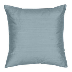 The Silk Group - Ocean Blue 18x18-Inch Silk Shantung Square Poly Insert Decorative Pillow - - Handcrafted in the USA these decorative pillows are ideal for adding that special finishing touch to any space. Available in over 100 colors several of them can be combined for a grouping of complementary colors or contrasting shades. They feature 100% Grade A Silk Shantung the finest highest quality most exquisite silk fabric on the market. A high quality knit backing is permanently bonded to the back of the fabrics used in our pillows. The knit backing adds body increased stability and longevity to the pillow. An invisible color-coordinated zipper is discretely placed on the bottom edge of the pillow so both faces of the pillow are able to be displayed. The pillow inserts we use are over-sized so our pillows will always have that desirable high soft and fluffy appearance. Our pillows are available without the insert too if you prefer to use your own. The fabric face has been treated with the most durable and permanent stain moisture and UV repellants available. This provides long lasting protection from water alcohol and oil-based stains as well as resistance from fading and discoloring over time.  - Fill Material: Down  - Dry Clean Only The Silk Group - SQ_Shant_Sol_Ocean_Blue_18x18_Poly
