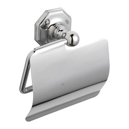 Hudson Reed - Luxury Victorian Bathroom Accessory Chrome Finish Toilet Roll Holder - Our high quality brass luxury range of Victorian style bathroom accessories. Toilet Paper Holder Dimensions:  Length: 8 (200mm) Height: 2.5 (63mm) Depth: 3.15 (80mm) Available in Chrome Finish. Supplied with screws and wall plugs for wall attachment.