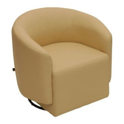 Rissanti Asti Swivel Accent Chair - French Vanilla - Add a touch of vintage appeal to any living space with the Rissanti Asti Swivel Accent Chair - French Vanilla. Its sexy style wraps your body in the comfort of a rounded back and bonded leather upholstery. Its thoughtful design blends perfectly with a variety of decor settings while a smooth swivel feature lets you get involved in any cocktail conversation.About Reliance Impex, Inc.Reliance Impex is a global trade company based in the United States. This private company was established in 2003 and has quickly gained a reputation for providing top quality home furnishings at a reasonable price.