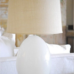 Large White Egg Lamp