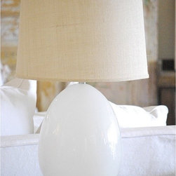 Large White Egg Lamp - Unique yet simple — yes, this is my kind of table lamp.