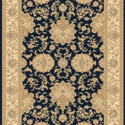 "Dynamic Rugs - Dynamic Rugs Rug, Navy, 6' 7"" x9' 6"" - The Legacy Collection by Dynamic Rugs features persian styled rugs with 800,000 points with traditional colors."