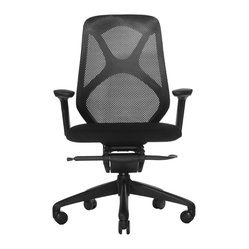 Wobi Office - Wobi Suit Chair - People don't spend much time thinking about ergonomics until their back goes out. Save yourself the pain and suffering and start thinking about it now.  This office chair provides an adjustable seat, arms and back so you can be sure you've got the right seat for your wellbeing.