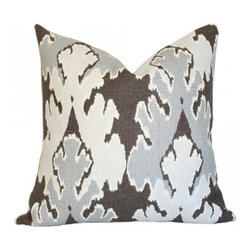 Bengal Bazaar Pillow, Gray - I just love these gray pillows! Use them on your bed or sofa for instantly updated fall decor.