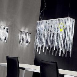 Glitter Suspension 96 - Material(s):  Mirrored Glass, Steel