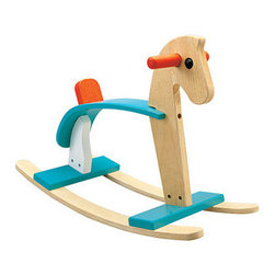 Plan Toys' Arabian Rocking Horse - The colorful Arabian rocking horse is manufactured using an ecofriendly process.