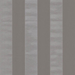 Wallpaper Worldwide - Century Classic - Metallic Stripe Wallpaper, Metallic, Dark Grey, Silver - Material: Non-woven