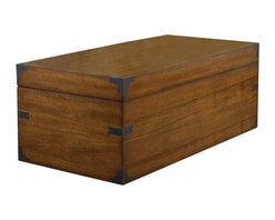 Hooker Furniture - Hooker Furniture Estate Accent Trunk in Teak - Hooker Furniture - Coffee Tables - 517350001 - Throughout the years antiques have been one of the greatest sources of furniture inspiration offering character timelessness and enduring appeal.