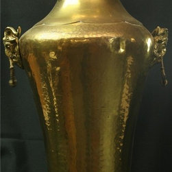 EuroLux Home - Large Consigned Vintage French Renaissance Brass Vase - Product Details