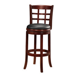 "Boraam - Boraam Kyoto 29"" Swivel Bar Stool in LT. Dark Cherry - Boraam - Bar Stools - 41229"