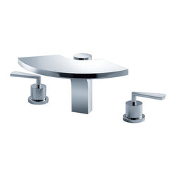 Kraus - Kraus KEF-14803CH Fantasia Three-hole Basin Faucet - One must fantasize to have a vision.  At Kraus our vision is to design beyond the boundaries in a pursuit of perfection