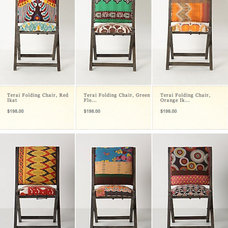 eclectic dining chairs and benches by Anthropologie