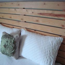 re-tooled - Simple pine slat headboard