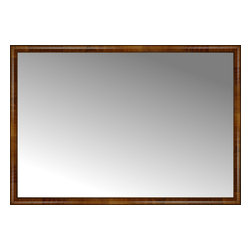 """Posters 2 Prints, LLC - 71"""" x 49"""" Belmont Light Brown Custom Framed Mirror - 71"""" x 49"""" Custom Framed Mirror made by Posters 2 Prints. Standard glass with unrivaled selection of crafted mirror frames.  Protected with category II safety backing to keep glass fragments together should the mirror be accidentally broken.  Safe arrival guaranteed.  Made in the United States of America"""