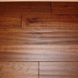 "Hickory Wild 3/4 x 5"" Hand Scraped Solid Hardwood Floors -"