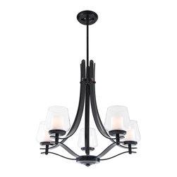 DVI LIghting - Dvi Lighting DVP5425ORB-OP Five Light Chandelier - DVI Lighting DVP5425ORB-OP Five Light Chandelier