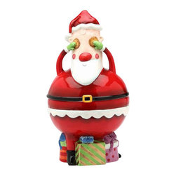 ATD - 6 1/8 Inch Red and White Santa Sitting on Presents Cookie Jar - This gorgeous 6 1/8 Inch Red and White Santa Sitting on Presents Cookie Jar has the finest details and highest quality you will find anywhere! 6 1/8 Inch Red and White Santa Sitting on Presents Cookie Jar is truly remarkable.