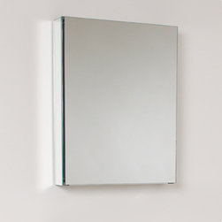 "Fresca - Fresca 20"" Wide Bathroom Medicine Cabinet w/ Mirrors - This 20"" medicine cabinet features mirrors everywhere. The edges have mirrors and also on the interior of the medicine cabinet. The inside features two tempered glass shelves. Can be wall mounted or recessed into the wall."